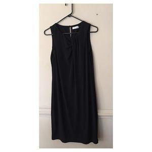 Calvin Klein Black Sleeveless Shift Dress Size 10